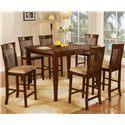 Primo International 8933 7 Piece Pub Table & Stool Set - Item Number: 8933T+6xSR