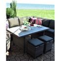 Primo International Arcadia Outdoor Wicker and Aluminum Ottoman - Item Number: ARCD-OTTNX3619