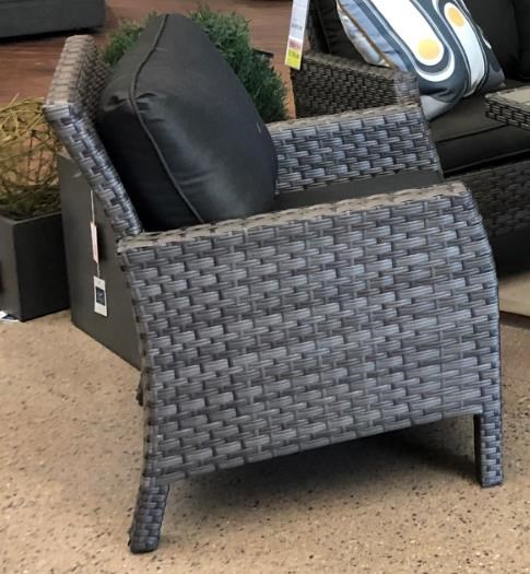 Wicker and Aluminum Outdoor Arm Chair