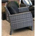 Primo International Arcadia Wicker and Aluminum Outdoor Arm Chair - Item Number: ARCD-SCHNX3619