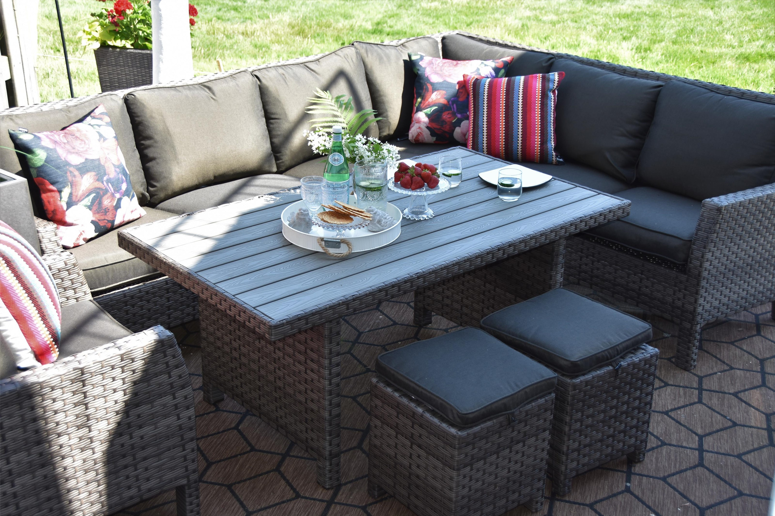 Wicker and Aluminum Outdoor Sectional