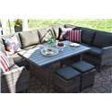 Primo International Arcadia Wicker and Aluminum Outdoor Sectional - Item Number: ARCD-SECNX3619