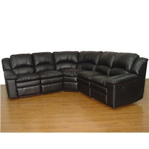 Primo International Bal Harbour 5 Piece Reclining Leather