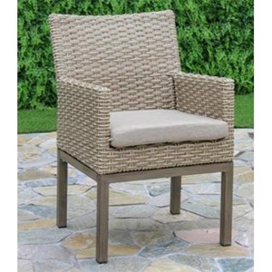 Wicker Outdoor Dining Arm Chair
