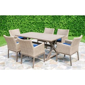 Primo International Belvedere Outdoor Table and 6 Chair Set