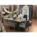 Primo International Belvedere Outdoor Table and 6 Chair Set - Item Number: BELV-TABXX3617+6xSCHXX3617
