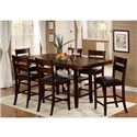 Urban Styles Cascade 7 Piece Counter High Dining Set - Item Number: Cascade