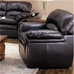Liz Leather Chair with Pillow Top Seat by Primo International
