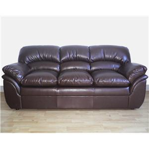 Primo International Liz Stationary Leather Sofa