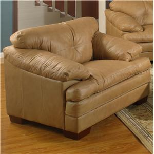 Primo International Mayfair Casual Leather Upholstered Chair with Accent Stitching