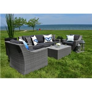 Outdoor Sofa, Chair and Cocktail Table