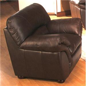 Poirot Casual Stationary Leather Chair by Primo International