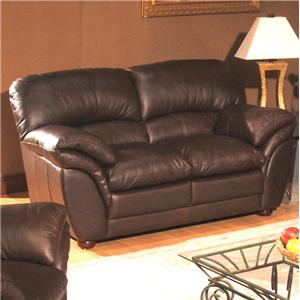 Primo International Poirot Casual Stationary Leather Love Seat