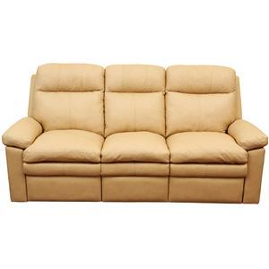 Primo International Ribbon Reclining Sofa with Pillow Top Cushions