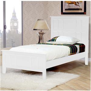 Millie White Twin Captain 39 S Bed Walker 39 S Furniture Headboard Footboard Spokane