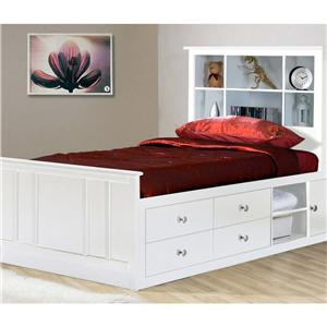 Private Reserve Millie (white) Millie (white) Twin Captainu0027s Bed  sc 1 st  Walkeru0027s Furniture & Beds | Spokane Kennewick Tri-Cities Wenatchee Coeur Du0027Alene ...