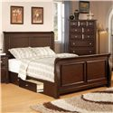 Private Reserve B121 Queen Sleigh Bed - Item Number: B121-20