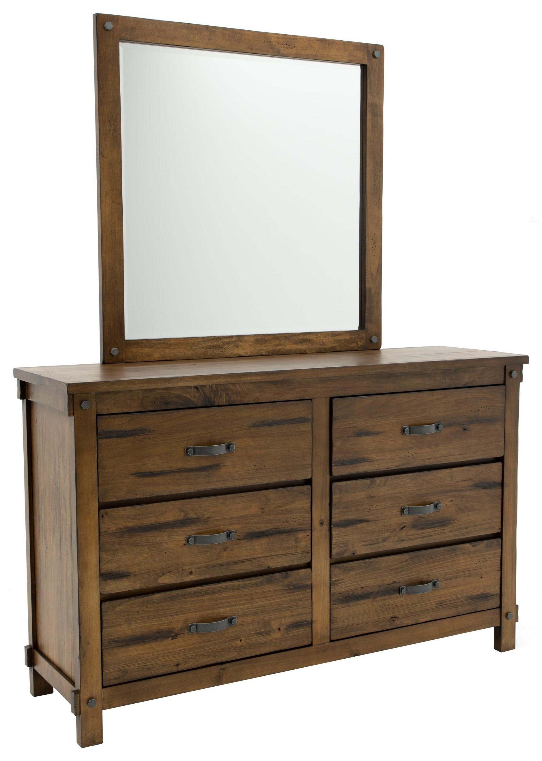 Prescott Dresser and Mirror at Walker's Furniture