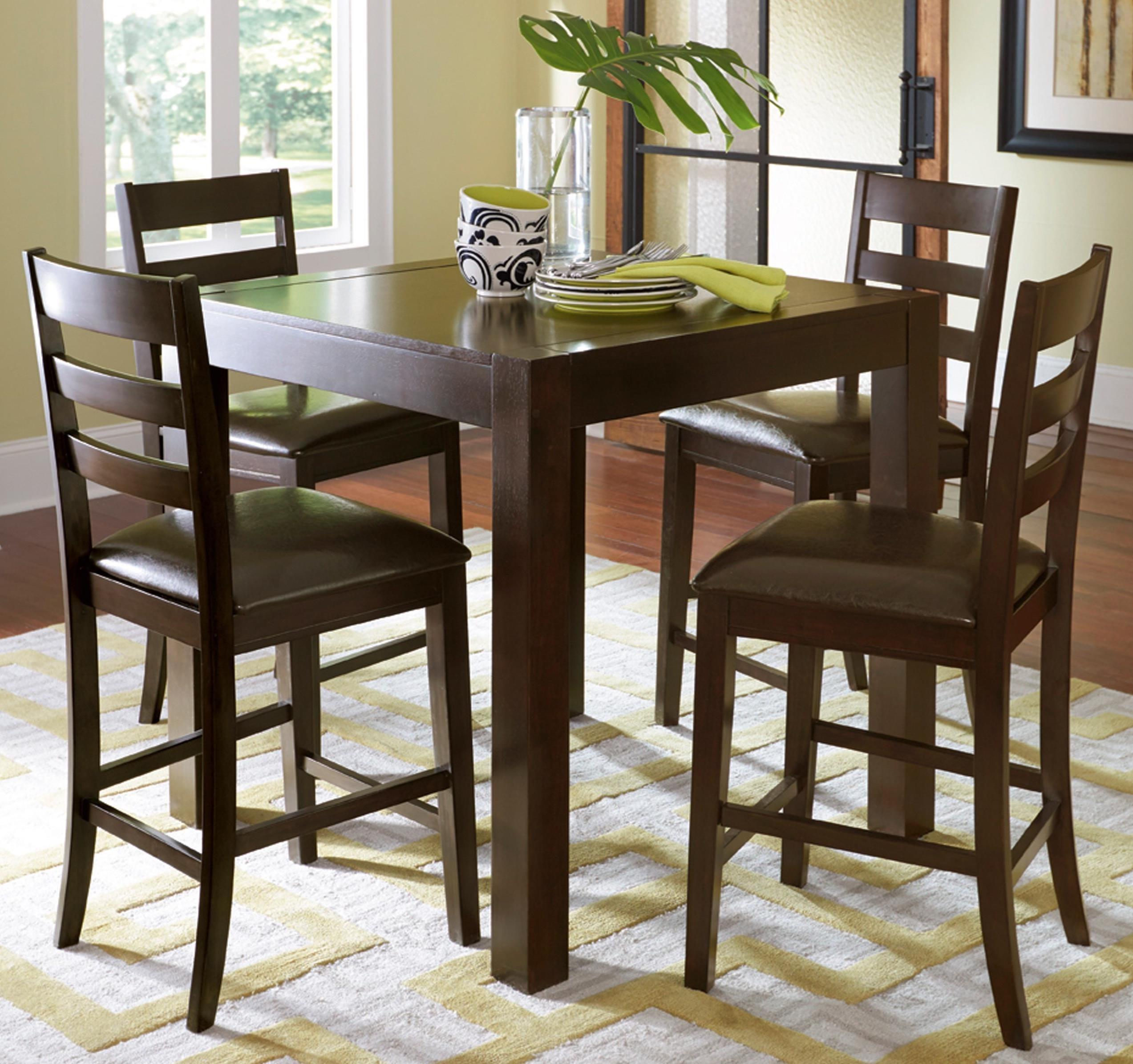 Progressive Furniture Amini 5-Piece Butterfly Counter Table Set - Item Number: P868-12+4x63
