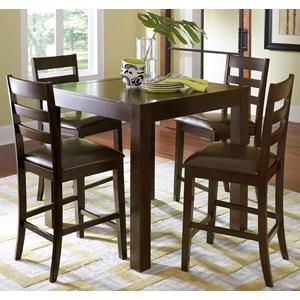 Progressive Furniture Amini 5-Piece Butterfly Counter Table Set