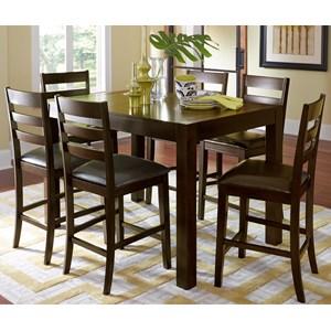 Progressive Furniture Amini 7-Piece Butterfly Counter Table Set