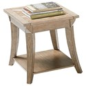 Progressive Furniture Appeal II Rectangular End Table with Parquet Table Top