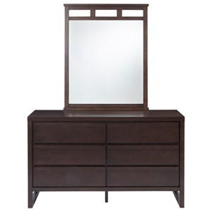 Drawer Dresser and Mirror