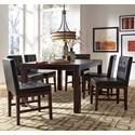 Progressive Furniture Athena 7-Piece Rectangular Dining Table Set - Item Number: P109D-10+6x61