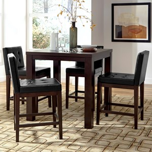 5-Piece Counter Square Dining Table Set