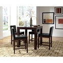 Progressive Furniture Athena Contemporary Square Counter Height Dining Table