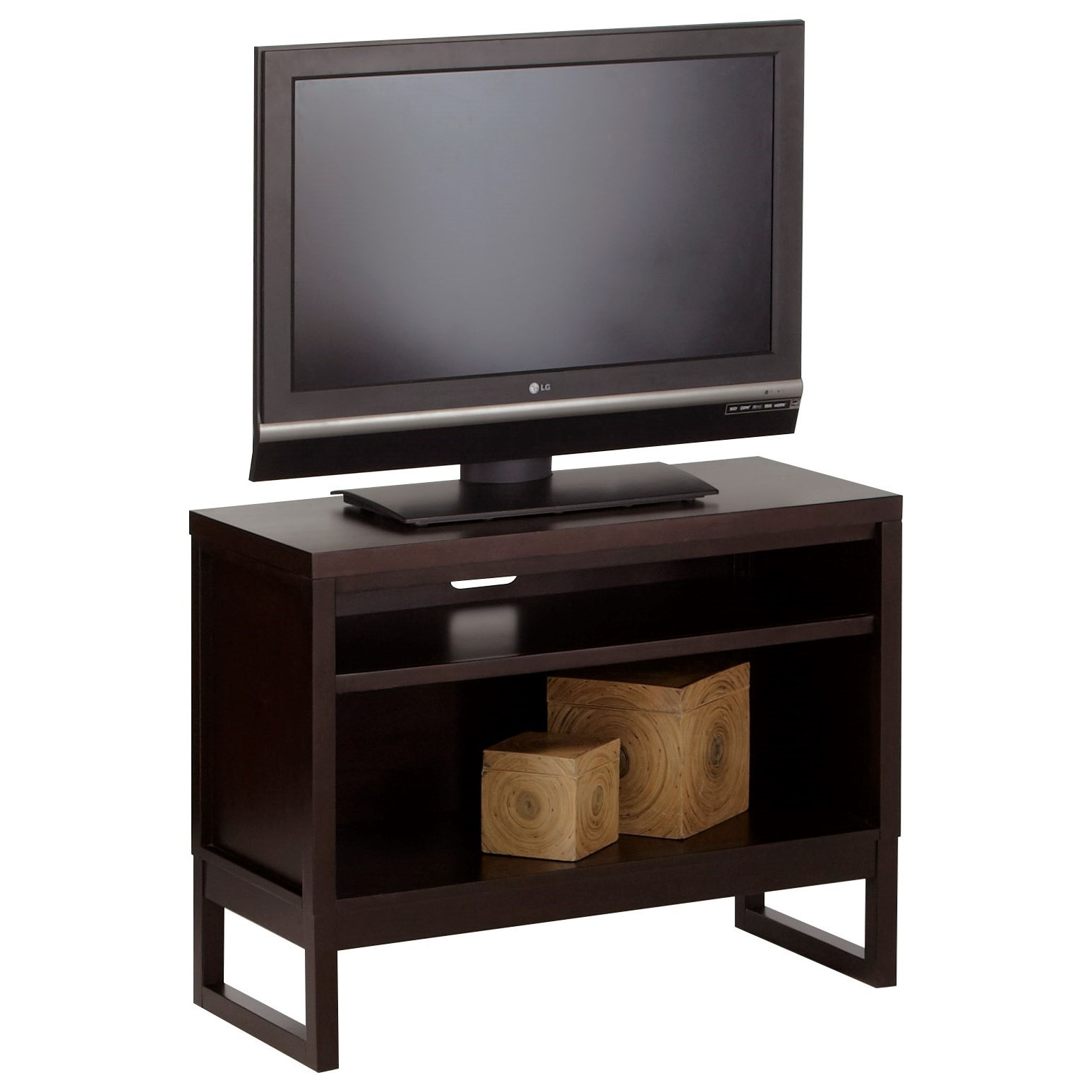 Progressive Furniture Athena Contemporary TV Stand With Sled Legs