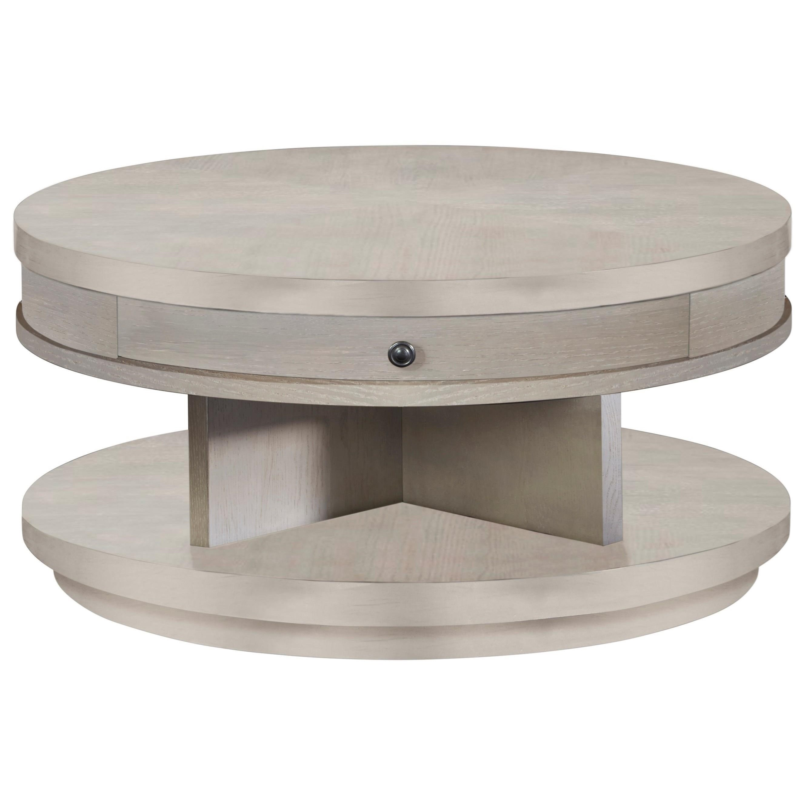 Augustine Round Cocktail Table by Progressive Furniture at Carolina Direct