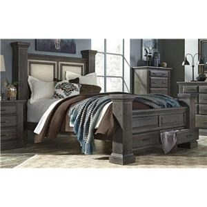 Progressive Furniture B648 QUEEN STORAGE BED