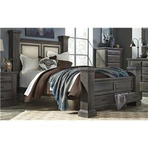 Progressive Furniture B648 King Size Storage Bed