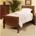 Progressive Furniture Bandera Twin Sleigh Bed with Panel Detailing - 61639-25+26+72