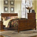Progressive Furniture Bandera Queen Sleigh Bed with Panel Detail - 61639-34+35+77 - Bed Shown May Not Represent Size Indicated