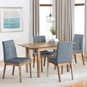 Progressive Furniture Barcelona 5-Piece Butterfly Dining Table Set - Item Number: D838-14+4x61