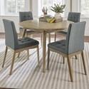 Progressive Furniture Barcelona 5-Piece Round Dining Table Set - Item Number: D838-15+4x61