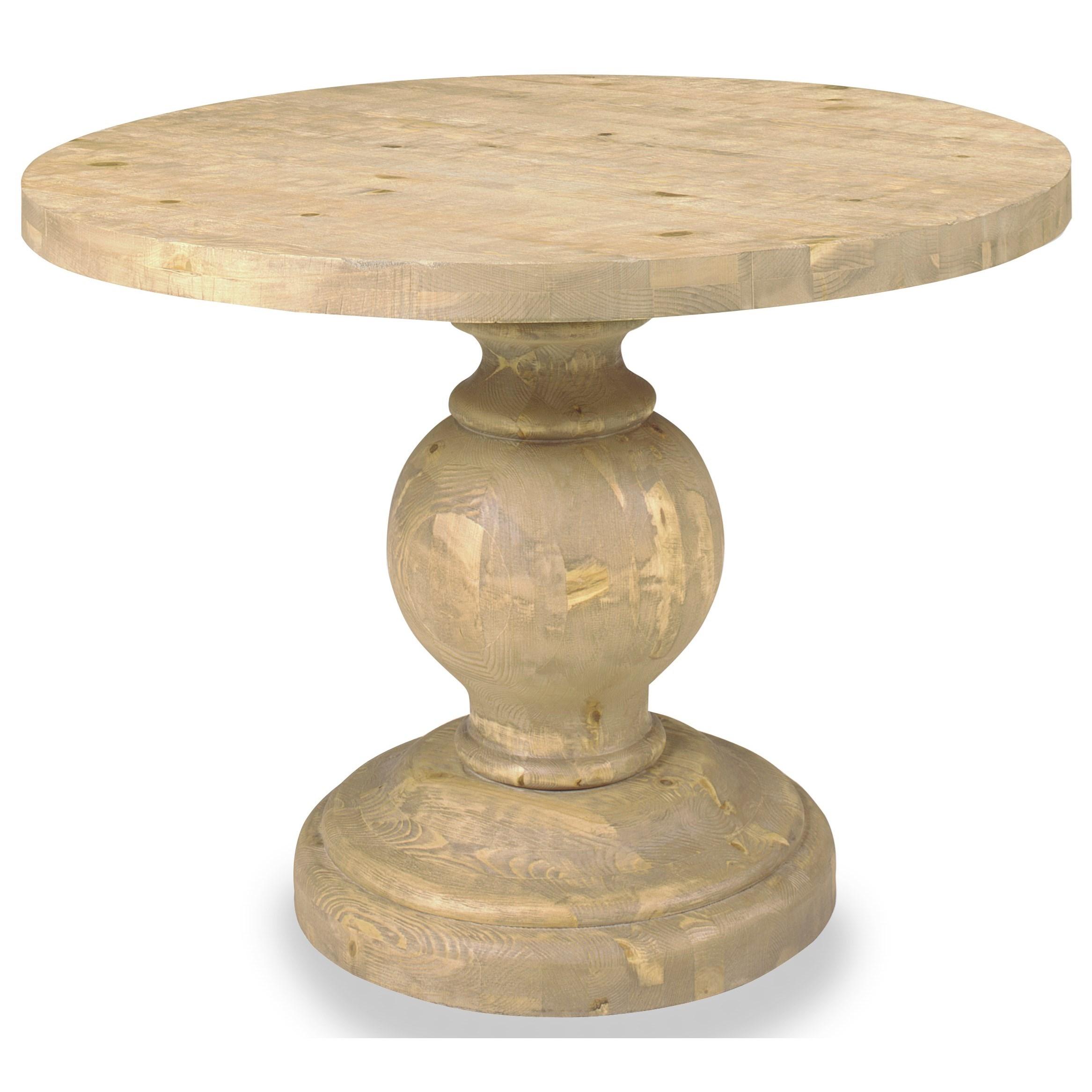 Progressive Furniture Bianca Pedestal Dining Table - Item Number: A711-58B+58T
