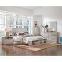 Progressive Furniture Bliss Gray Chalk Queen Bedroom Group - Item Number: B641 Q Bedroom Group 1