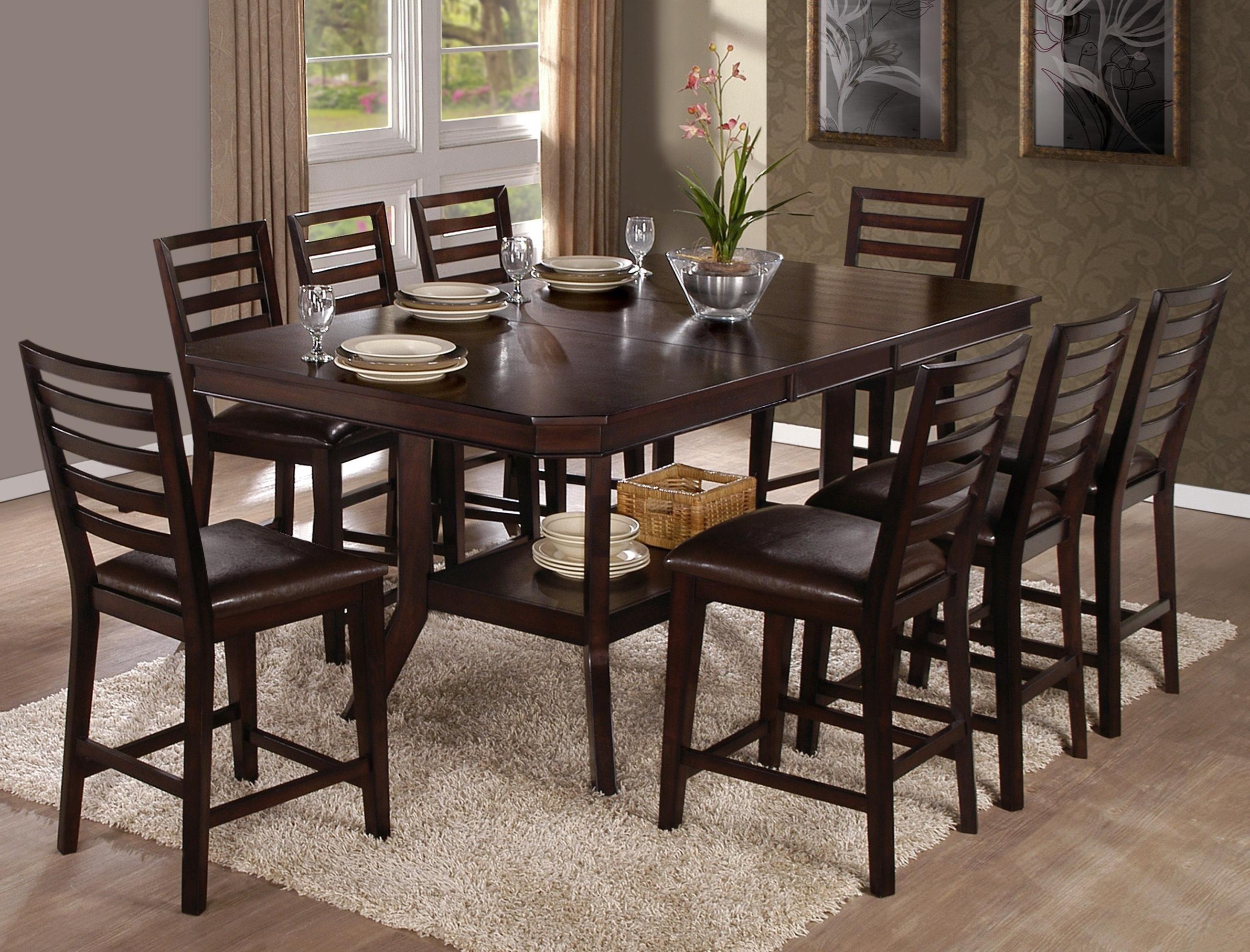 Progressive Furniture Bobbie 9-Piece Counter Table Set - Item Number: P832-12+8x63