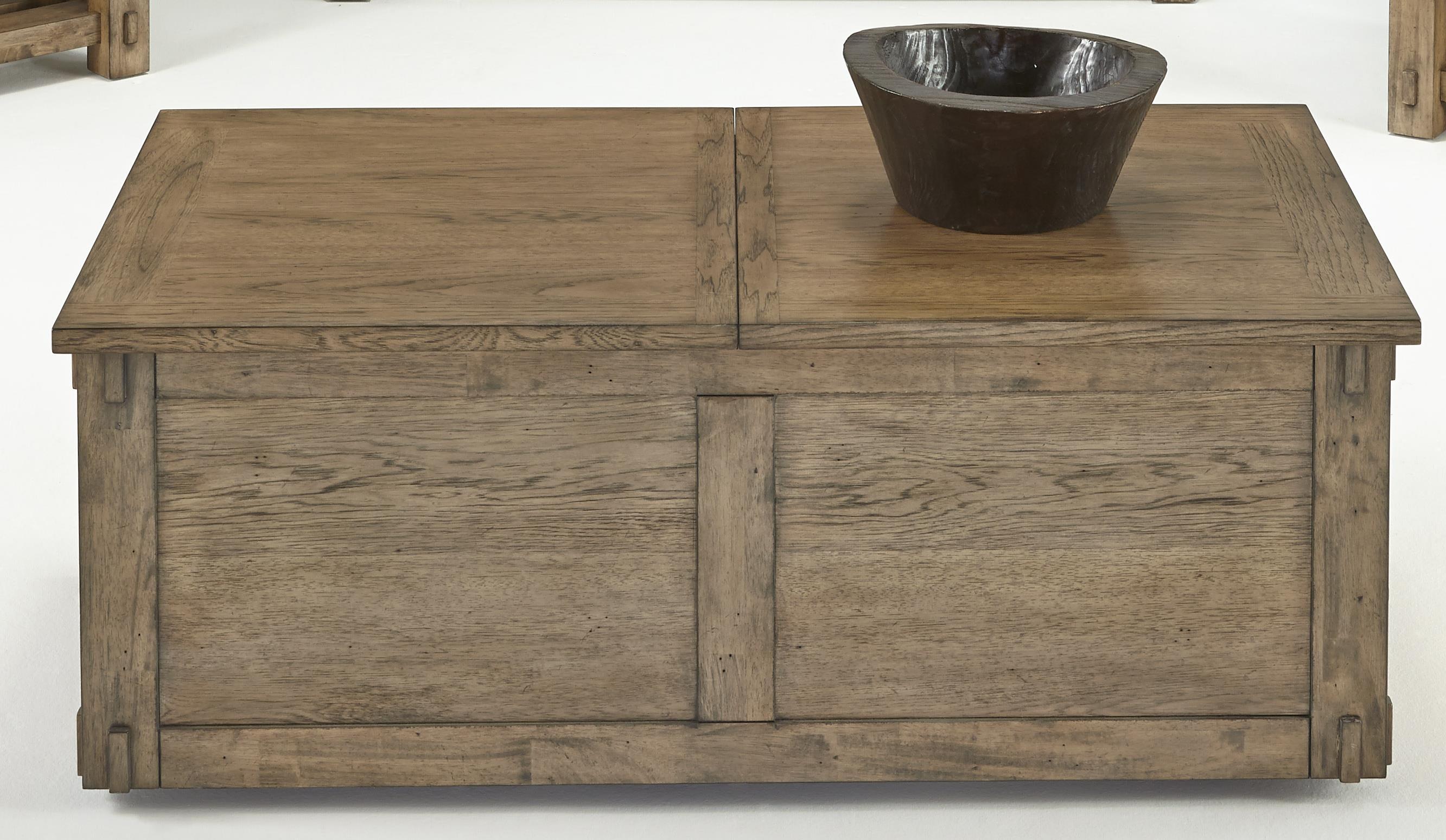 Progressive Furniture Boulder Creek Castered Trunk Cocktail Table - Item Number: P549-17