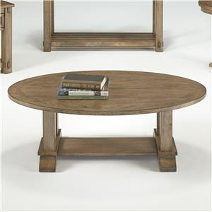 Progressive Furniture Boulder Creek Oval Cocktail Table