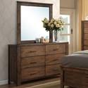 Progressive Furniture Brayden Drawer Dresser/Mirror Set - Item Number: B104-23-50