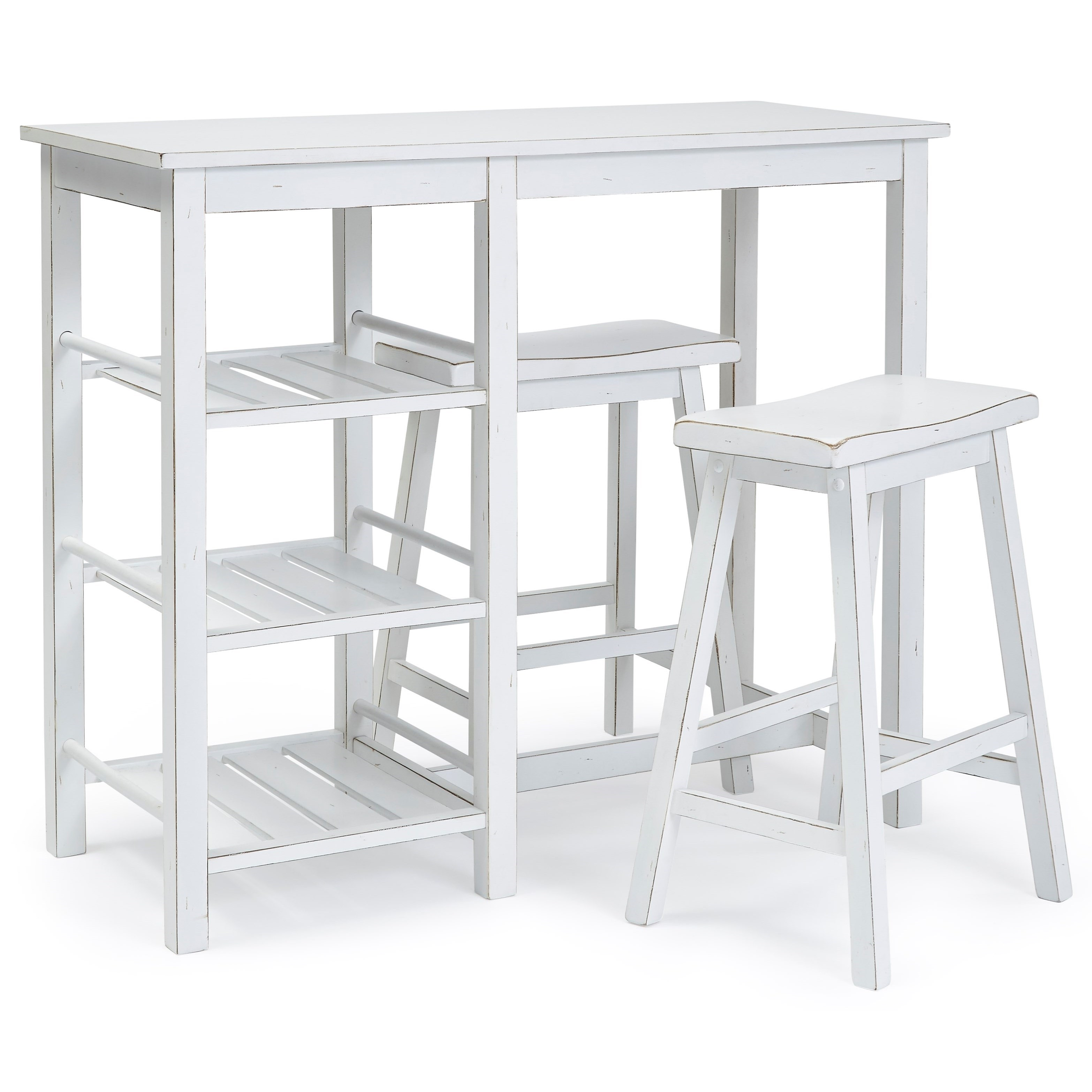 Counter Table With 2 Stools