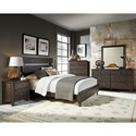 Progressive Furniture Brickyard Queen Bedroom Group - Item Number: B645 Queen Bedroom Group 2