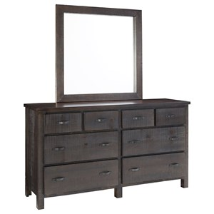Progressive Furniture Brickyard Dresser and Mirror Set
