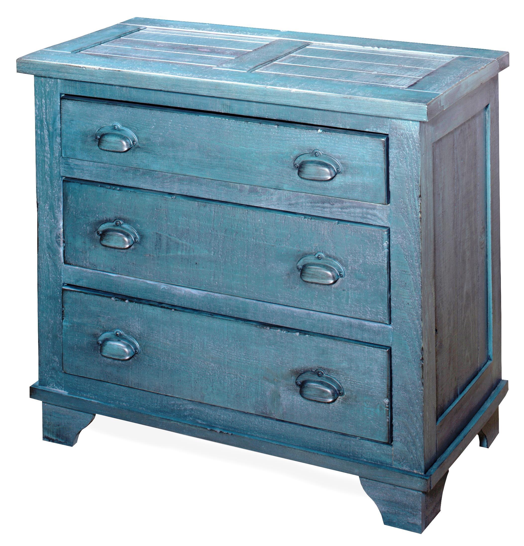 Progressive Furniture Camryn Industrial Chest - Denim Blue - Item Number: A724-72D