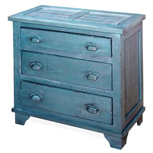 Progressive Furniture Camryn Industrial Chest - Denim Blue