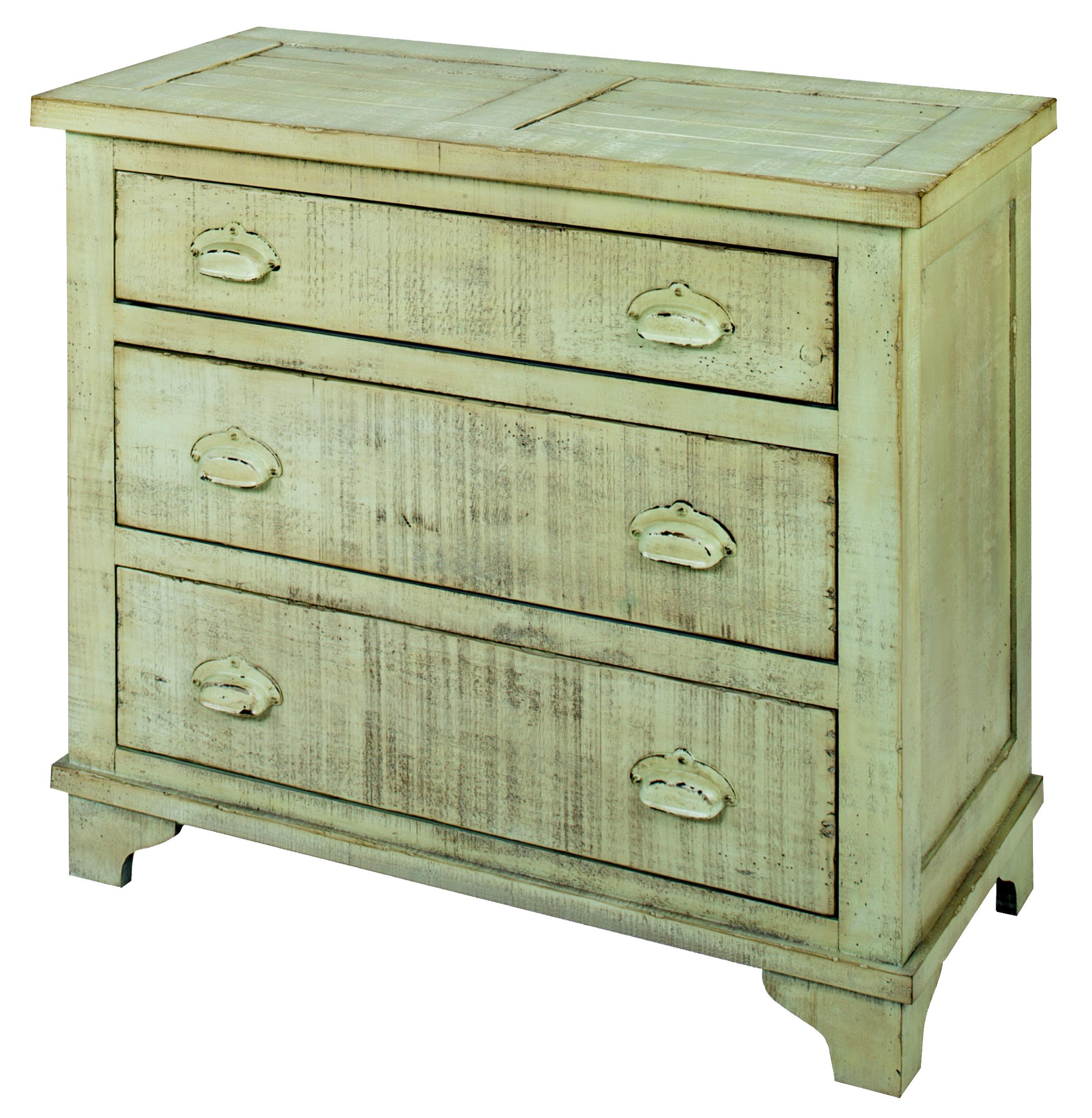 Progressive Furniture Camryn Industrial Chest - Mint Green - Item Number: A724-72G